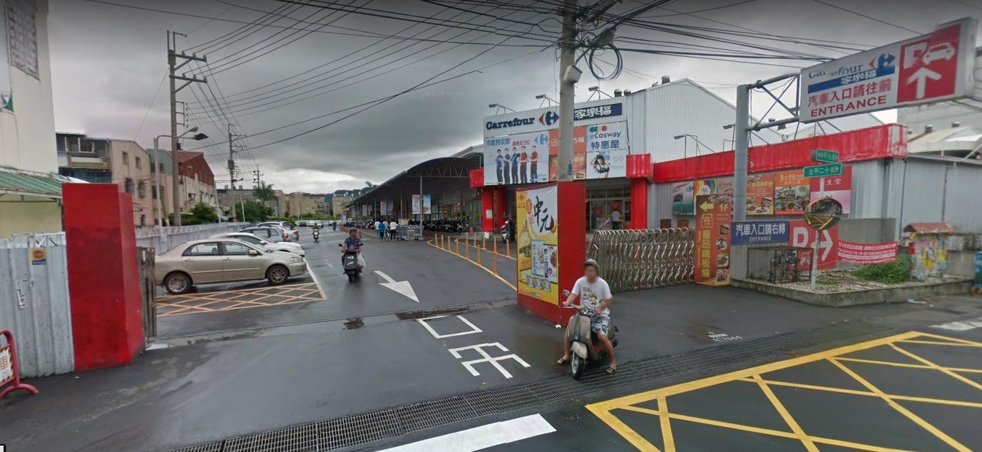 家樂福停車場入口(另開新視窗)